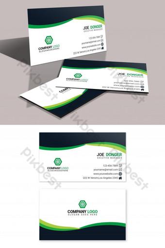 Modèle de conception de carte de visite propre et élégante Modèle PSD