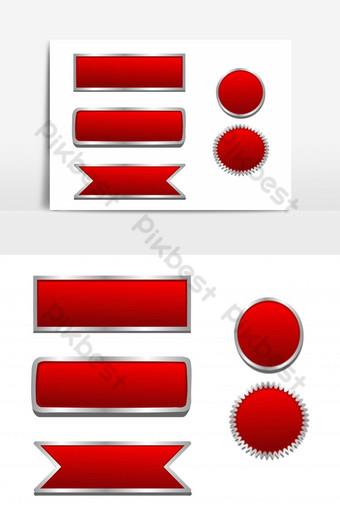 establecer botón rojo vector fondo blanco elementos gráficos Elementos graficos Modelo EPS