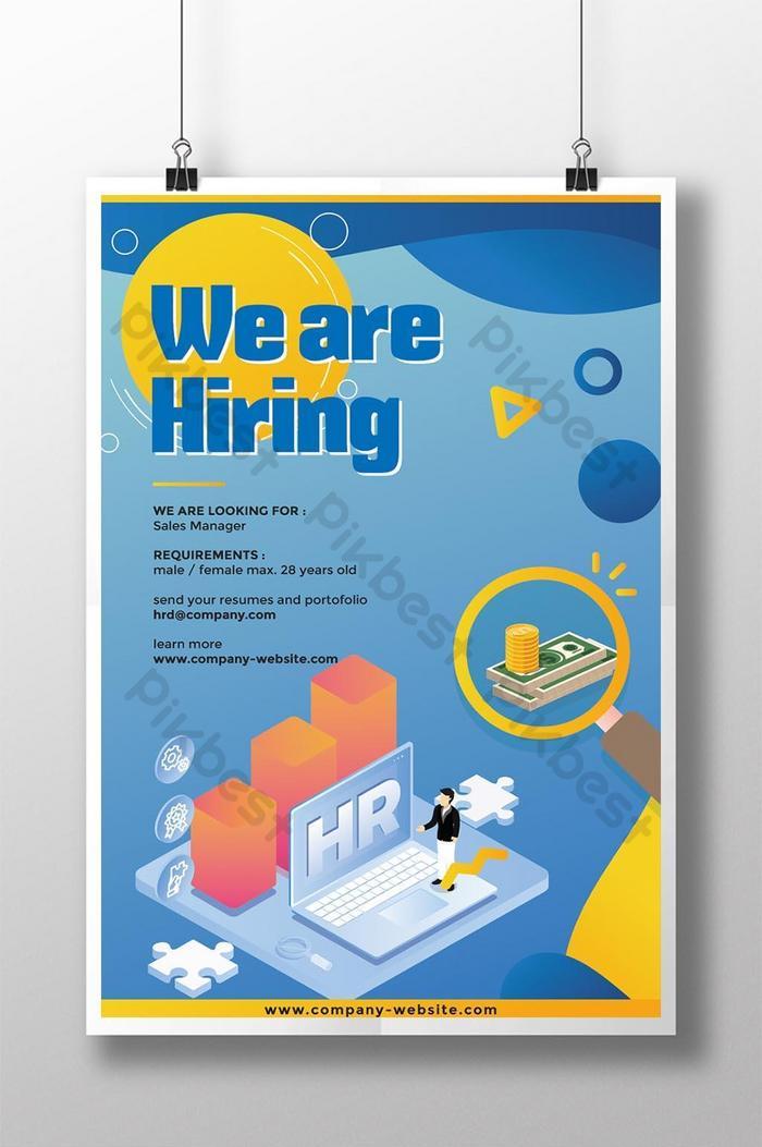 flat style recruitment poster