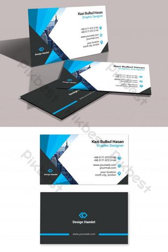 Carte de visite d'entreprise créative Modèle PSD