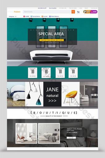 домашняя страница модной мебели lazada Электронная коммерция шаблон PSD
