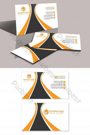 conception de carte de visite unique Modèle PSD