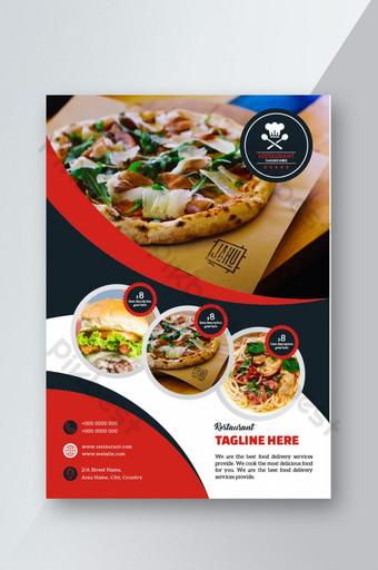 تصميم نشرة مطعم قالب PSD