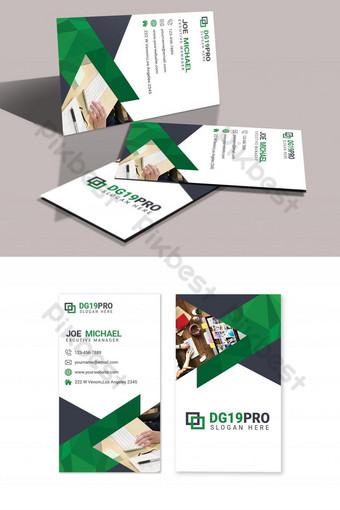 Modèle de conception de carte de visite abstraite Modèle PSD