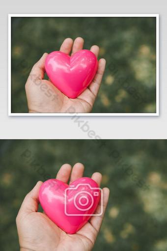 concepto de amor de la naturaleza con foto en forma de corazón Fotografía Modelo JPG