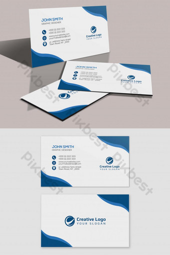 conception de carte de visite propre Modèle PSD