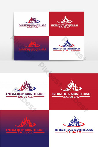 gas service logo vector graphic element PNG Images Template AI