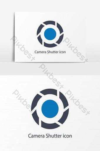 elemento gráfico de vector de icono de obturador de cámara Elementos graficos Modelo AI