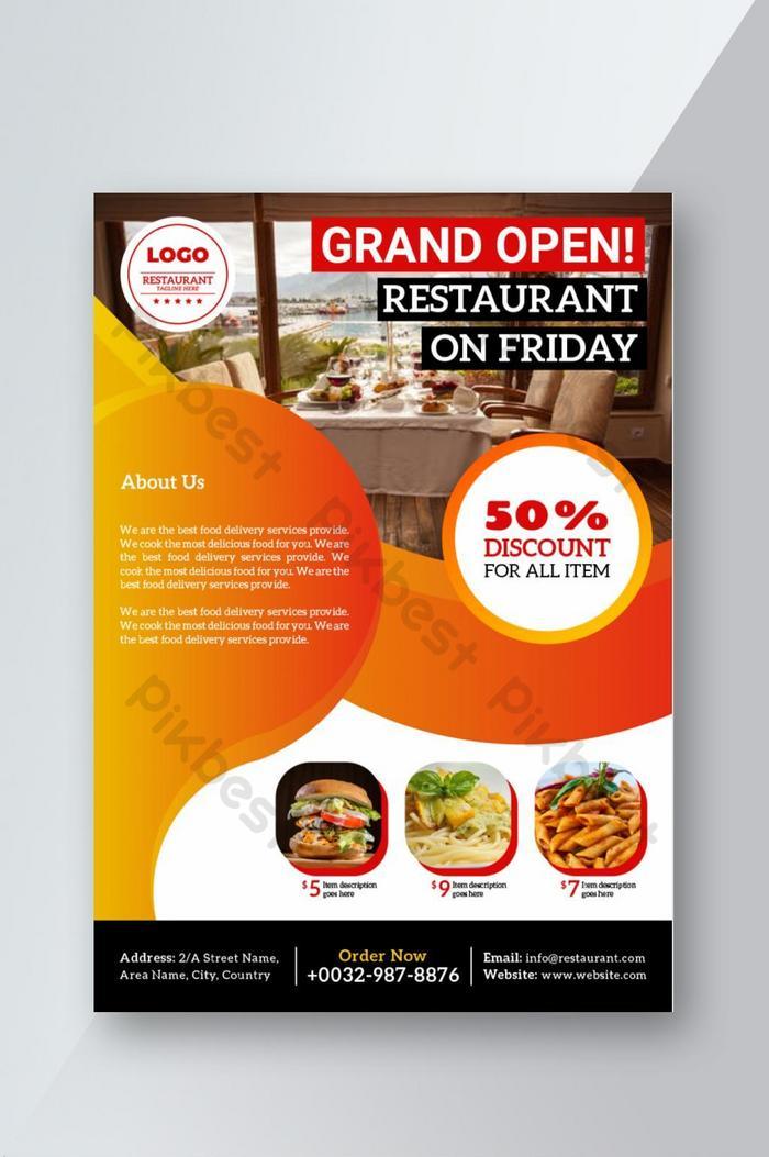 Grand Open Restaurant Flyer Ai Free Download Pikbest