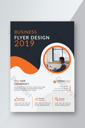 conception de flyer d'entreprise créative Modèle AI