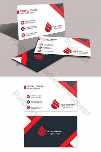 Modèle de carte de visite rouge Modèle PSD