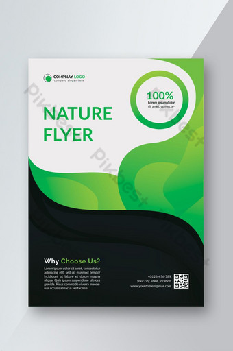 modèle de flyer créatif nature verte Modèle PSD