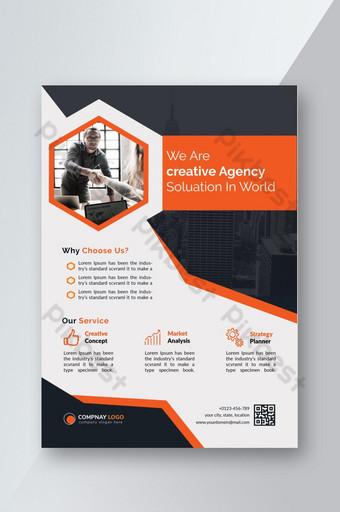 modèle de flyer créatif corporatif orange Modèle PSD