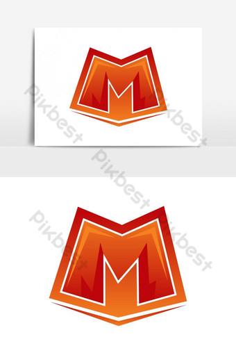m字母電競吉祥物徽標和圖標矢量圖形元素 元素 模板 AI
