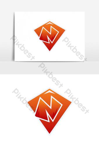 n字母電競吉祥物徽標和圖標設計矢量圖形元素 元素 模板 AI