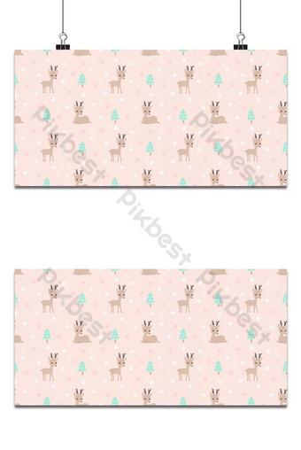 pequeño reno de patrones sin fisuras sobre fondo rosa Fondos Modelo EPS
