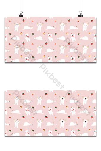 oso polar de patrones sin fisuras y regalo sobre fondo rosa Fondos Modelo EPS