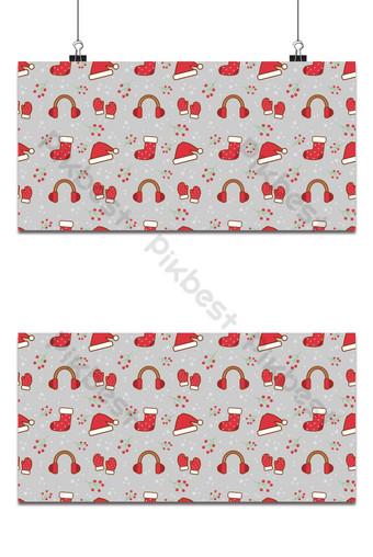 عنصر عيد الميلاد على خلفية رمادية خلفيات قالب EPS