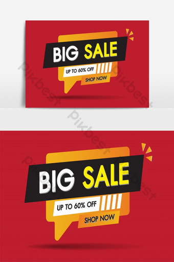 penjualan spanduk desain template penjualan besar diskon khusus promosi vektor elemen grafis Elemen Grafis Templat AI