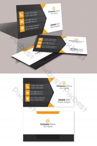 diseño de tarjeta de visita limpia e inteligente Modelo PSD