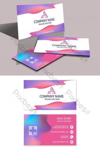 plantilla de tarjeta de visita creativa Modelo AI