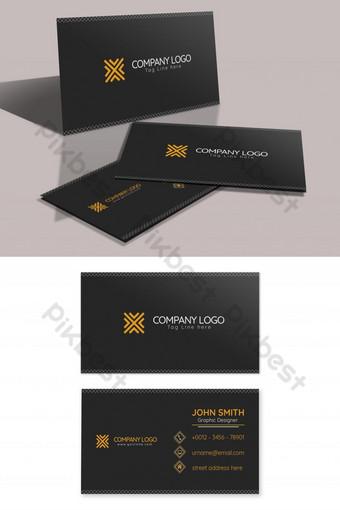 borde blanco de color oscuro tarjeta de visita simple y limpia Modelo PSD