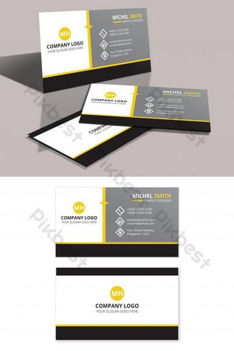 Modèle de carte de visite minimaliste Modèle PSD