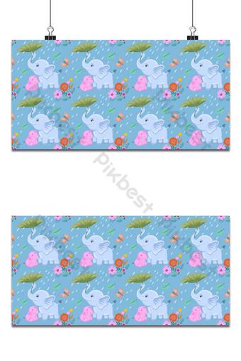 mamá y bebé elefante de patrones sin fisuras vector diseño de fondo Fondos Modelo EPS