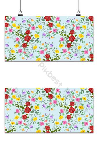 Rosa roja y flores de patrones sin fisuras tela textil fondo Fondos Modelo EPS