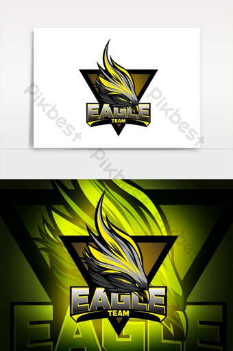 elemento gráfico del vector del logotipo de la mascota del águila Elementos graficos Modelo AI