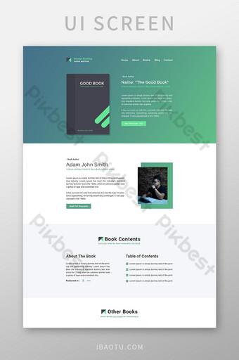 Écran de l'interface utilisateur du site Web du blog de l'auteur UI Modèle PSD