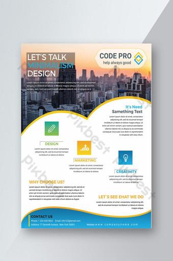 Dépliant sur les services de marketing polyvalents créatifs Modèle PSD