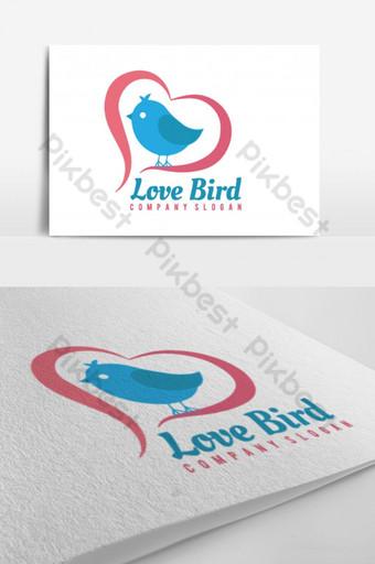 logotipo de pájaro de amor Modelo AI
