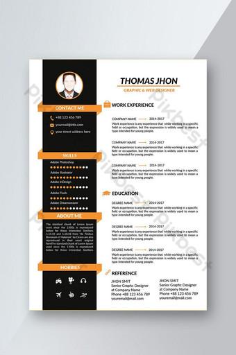 CV mẫu thiết kế tờ rơi Bản mẫu PSD