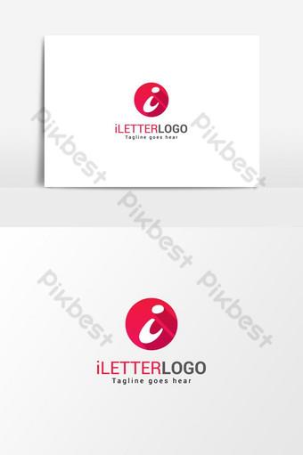 أنا حرف شعار ناقلات عنصر الرسم صور PNG قالب AI