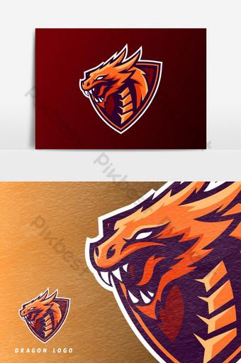 elemento gráfico del vector del logotipo de la mascota del juego esport Elementos graficos Modelo PSD