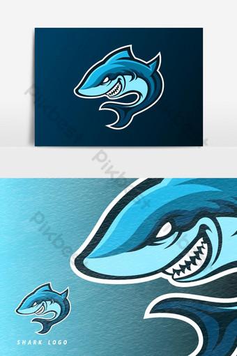 elemento gráfico de vector de logotipo de mascota de juego de esport de tiburon azul Elementos graficos Modelo AI
