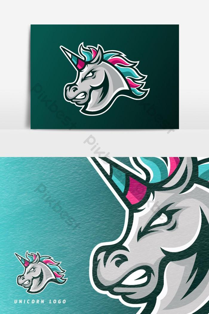 Rainbow Unicorn Horse Esport Gaming Mascot Logo Vector Graphic Element Png Images Ai Free Download Pikbest