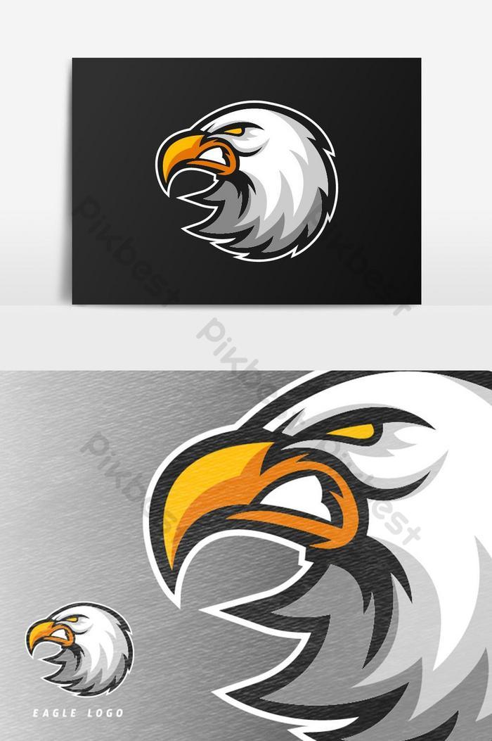 โลโก้มาสคอตเกม angry eagle esport แบบเวกเตอร์องค์ประกอบกราฟิก