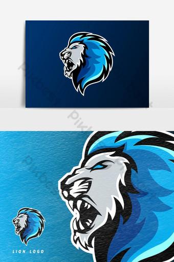elemento gráfico de vector de logotipo de mascota de juego de esport Elementos graficos Modelo PSD