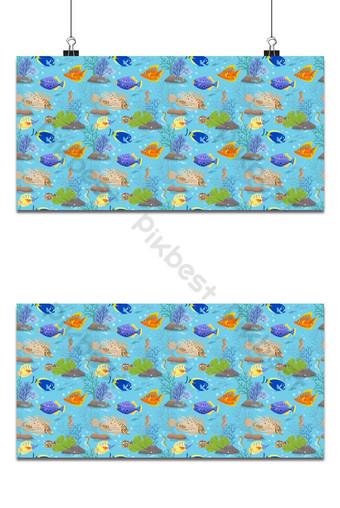 Coloridos peces de mar de patrones sin fisuras para la tela de fondo textil Fondos Modelo EPS