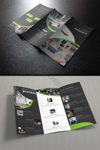 تصميم قالب كتيب ثلاثي الطيات قالب PSD