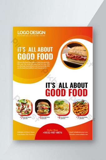 Modèle de Flyer de nourriture de restaurant Modèle AI