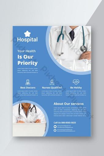 Dépliant médical et soins de santé Modèle PSD