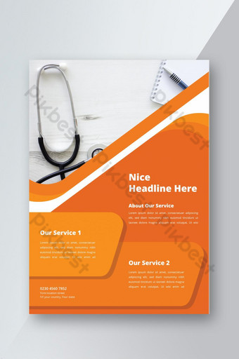 Modèle d'affiche flyer médical et médical Modèle AI