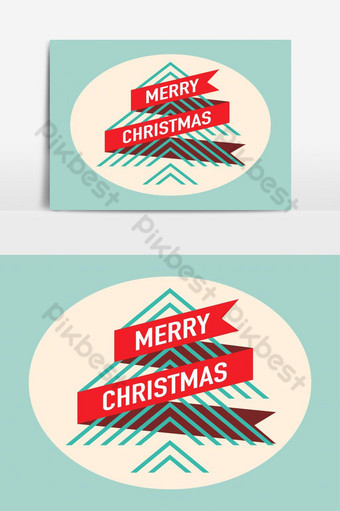Carte de voeux de Noël arbre de Noël élément graphique vectoriel moderne Éléments graphiques Modèle EPS