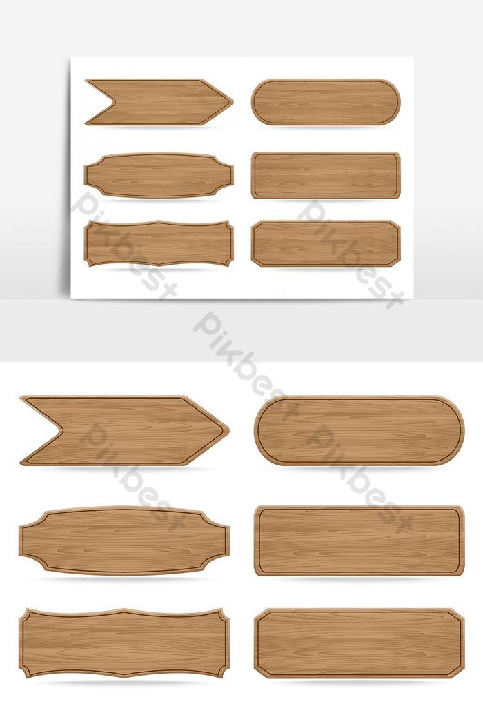 формы деревянная вывеска вектор графический элемент