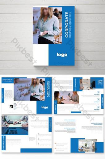 تصميم كتيب بسيط للشركات قالب PSD