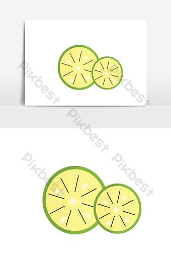 elemento gráfico de vector de división de limón simple Elementos graficos Modelo PSD