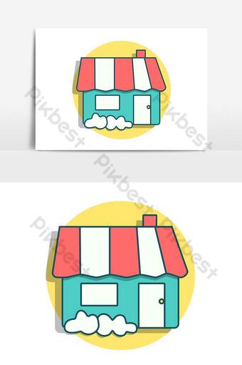 pequeño icono de dulce hogar en colores pop elemento gráfico vectorial Elementos graficos Modelo PSD